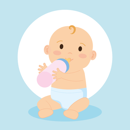 cute little baby character vector illustration design
