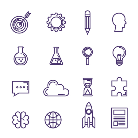 set of technological innovation icons vector illustration design Иллюстрация