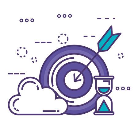 cibler le succès avec des icônes d'innovation conception d'illustration vectorielle