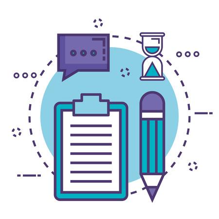 clipboard with innovation icons vector illustration design Illustration