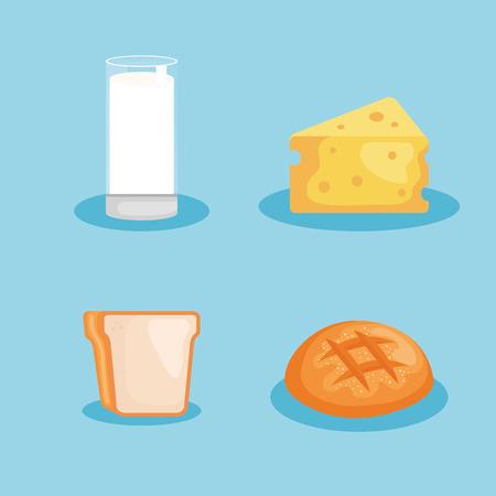 healthy breakfast menu icon vector illustration design Ilustração