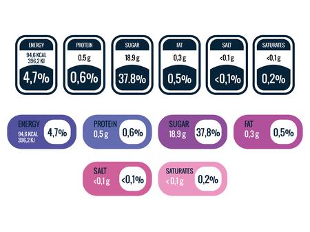 La valeur nutritive des données infographiques conception d'illustration vectorielle