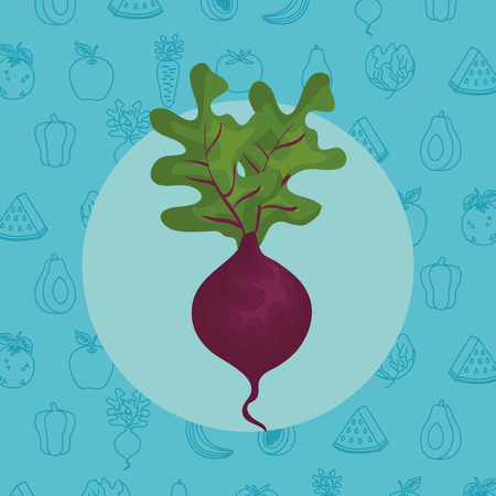 fresh eggplant vegetable icon vector illustration design Ilustração
