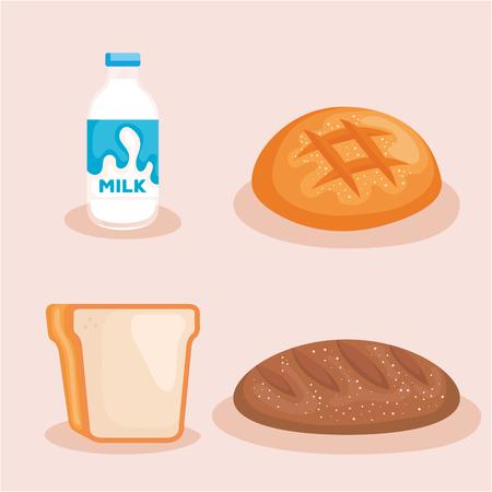 healthy breakfast menu icon vector illustration design Çizim