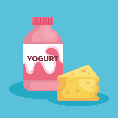 delicious bottle yogurt icon vector illustration design