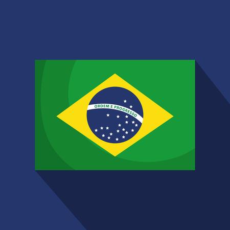 brazilian flag isolated icon vector illustration design