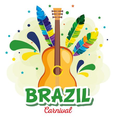 Karneval brasilianische Kartenvektor-Illustrationsdesign Vektorgrafik