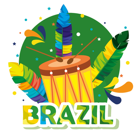 rio carnival brazilian card vector illustration design Illustration