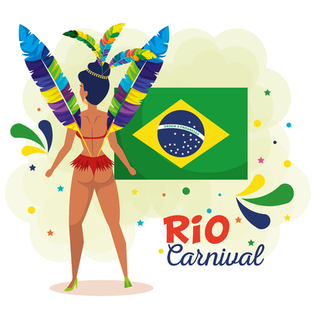 beautiful brazilian garota character vector illustration design