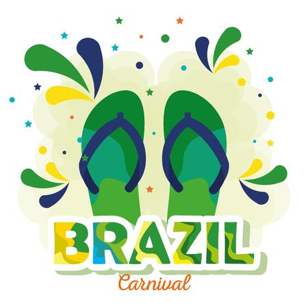 carnival brazilian card vector illustration design Ilustracje wektorowe