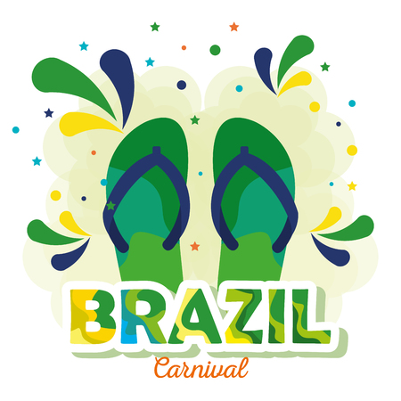 rio carnival brazilian card vector illustration design 向量圖像