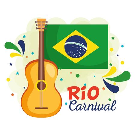 carnival brazilian card vector illustration design