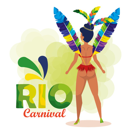 beautiful brazilian garota character vector illustration design 向量圖像