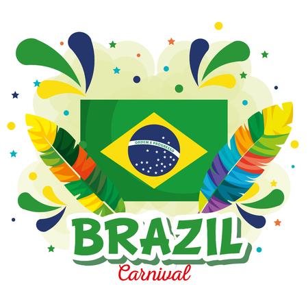carnival brazilian card vector illustration design Vetores
