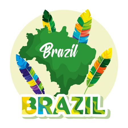rio carnival brazilian card vector illustration design  イラスト・ベクター素材