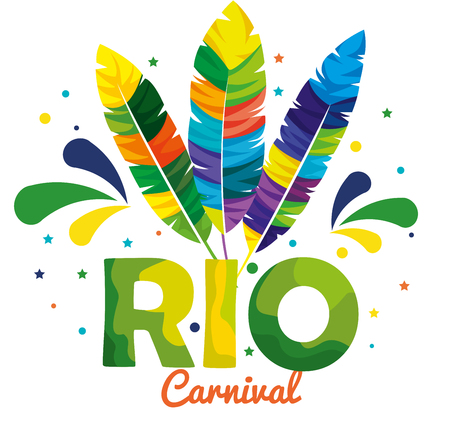 rio carnival brazilian card vector illustration design Illustration