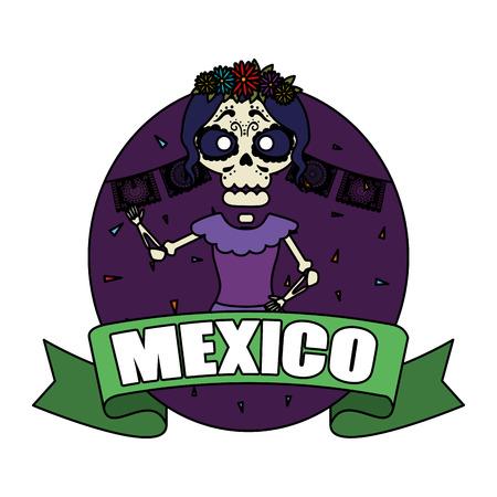 skeleton of katrina character vector illustration design Standard-Bild - 125499080