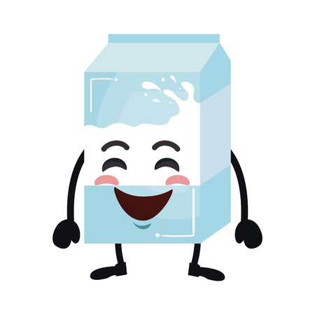 delicious milk box kawaii character vector illustration design 向量圖像