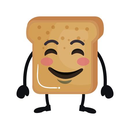 delicious bread toast character vector illustration design Standard-Bild - 116439983