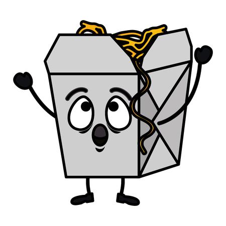 Délicieux spaghetti box vector illustration design Vecteurs