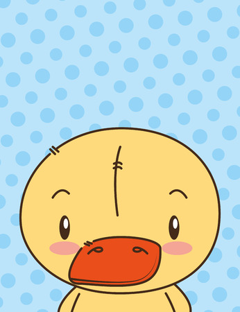 cute little duck character vector illustration design