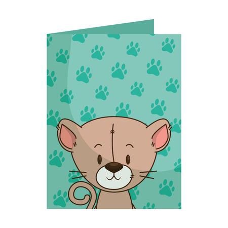 cute little cat character vector illustration design Illustration