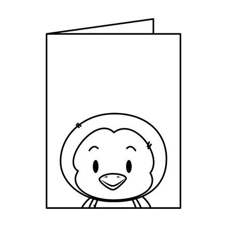 cute little penguin character vector illustration design Illustration