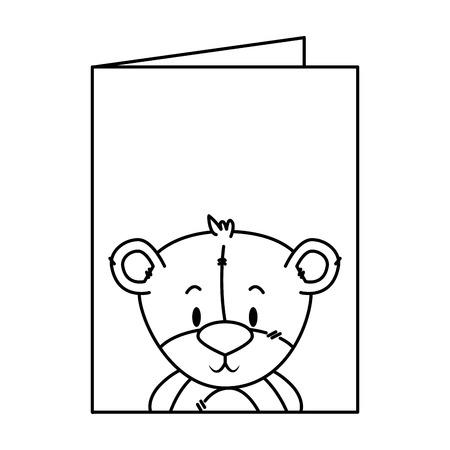 cute little bear character vector illustration design Фото со стока - 125459421