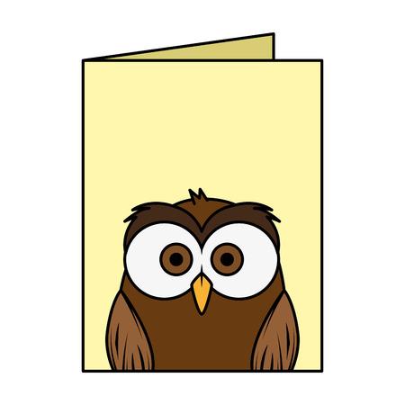 cute little owl bird character vector illustration design  イラスト・ベクター素材