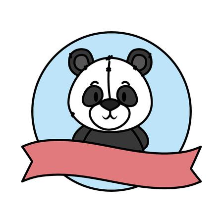 cute little bear panda character vector illustration design Vecteurs