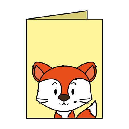 cute little fox character vector illustration design Фото со стока - 125459446