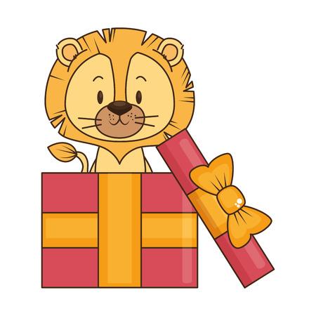 cute little lion character vector illustration design Ilustración de vector