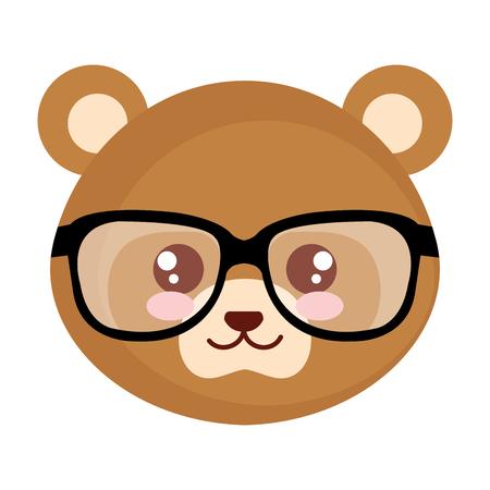 mignon petit ours caractère vector illustration design