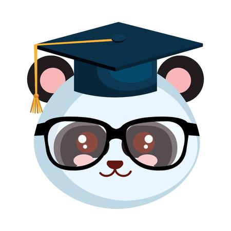 cute little bear panda character vector illustration design Illustration