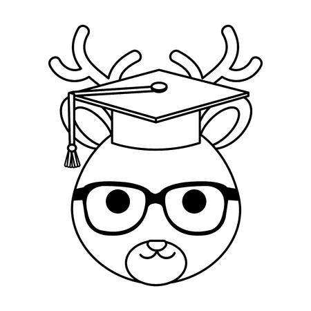 cute little reindeer character vector illustration design