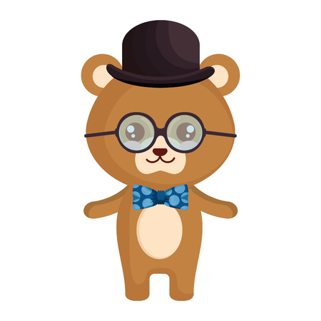 cute little bear character vector illustration design