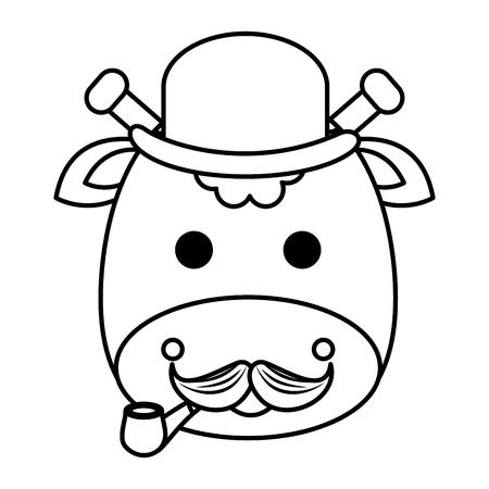 cute little giraffe character vector illustration design Ilustração