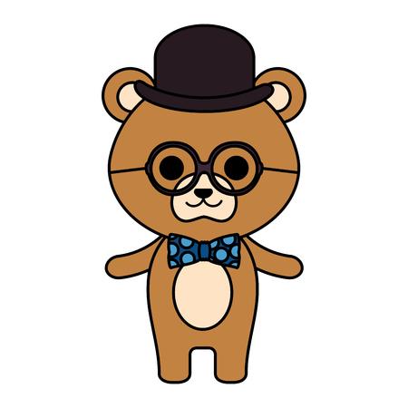 cute little bear character vector illustration design Vektorové ilustrace