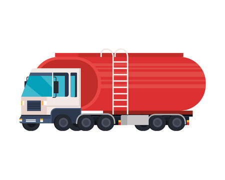 Tankwagen-Logistikservice-Vektor-Illustration-Design