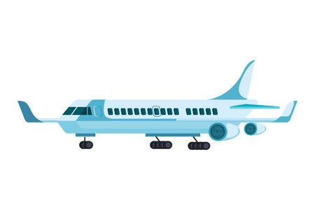 airplane flying isolated icon vector illustration design