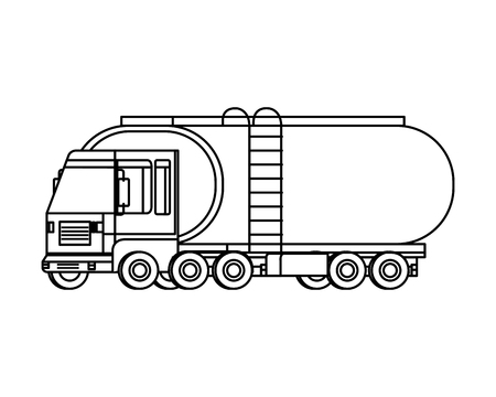 tanker truck logistic service vector illustration design Illustration