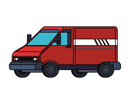delivery service van vehicle vector illustration design