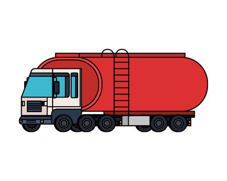 tanker truck logistic service vector illustration design Stock Illustratie