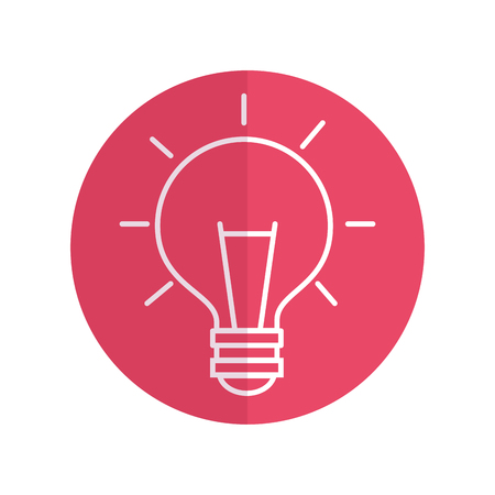 bulb light isolated icon vector illustration design Ilustrace
