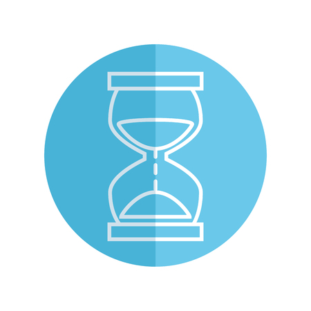 time hourglass isolated icon vector illustration design