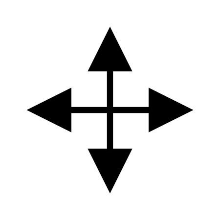 arrows crossed computer icon vector illustration design