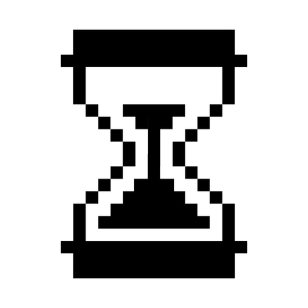 hourglass counter computer icon vector illustration design