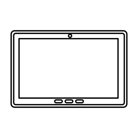 tablet device isolated icon vector illustration design  イラスト・ベクター素材