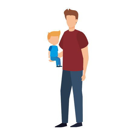 father with son characters vector illustration design Standard-Bild - 125388943