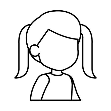 beautiful little girl character vector illustration design Ilustração